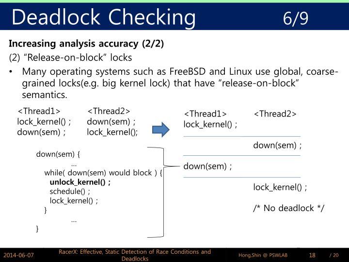 Deadlock Checking