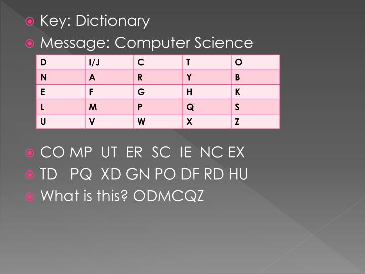 Key: Dictionary