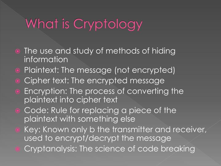 What is Cryptology