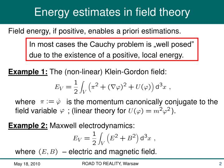 """In most cases the Cauchy problem is """"well posed"""""""