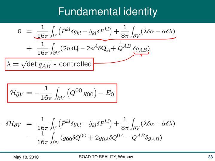 Fundamental identity