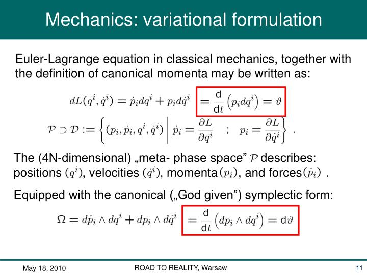 """The (4N-dimensional) """"meta- phase space""""    describes:"""