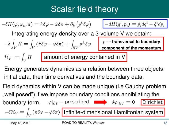Integrating energy density over a 3-volume V we obtain: