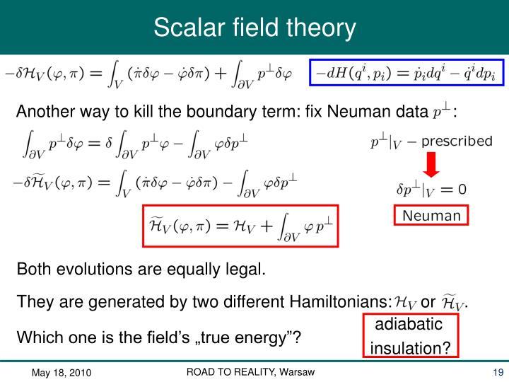 Another way to kill the boundary term: fix Neuman data     :