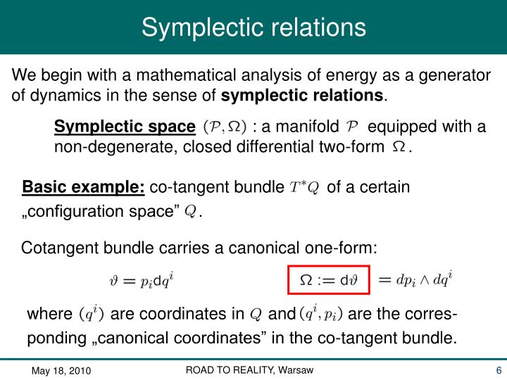 Symplectic space