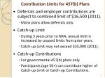contribution limits for 457 b plans