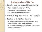 distributions from 457 b plan