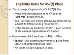 eligibility rules for 457 f plans