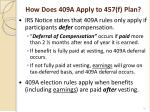 how does 409a apply to 457 f plan