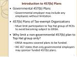 introduction to 457 b plans