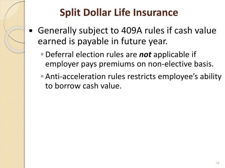 Split Dollar Life Insurance