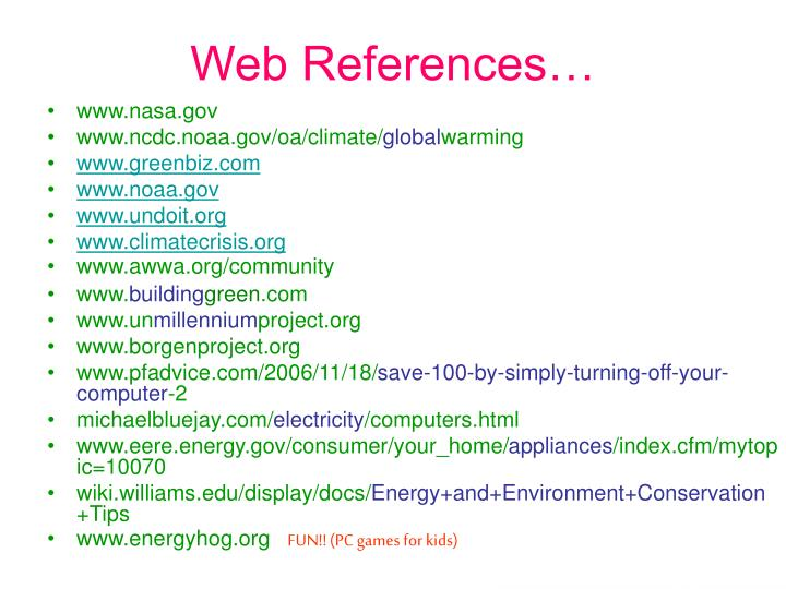 Web References…