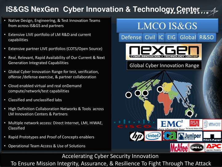 IS&GS NexGen  Cyber Innovation & Technology Center