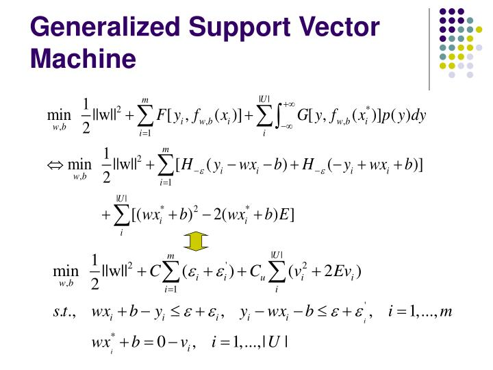 Generalized Support Vector Machine