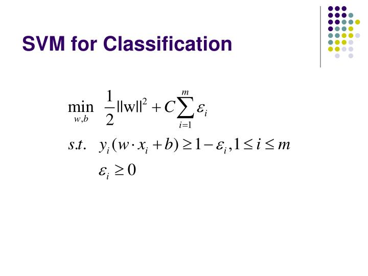 SVM for Classification