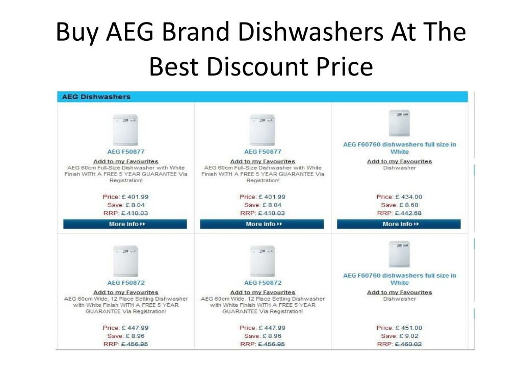 Buy AEG Brand Dishwashers At The Best Discount Price