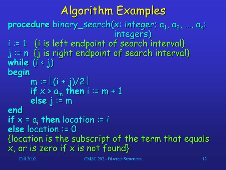 Algorithm Examples