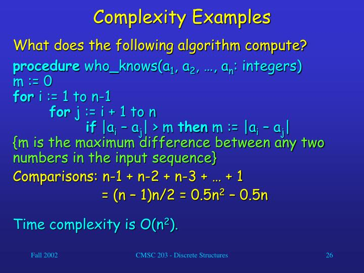 Complexity Examples