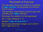 the growth of functions2