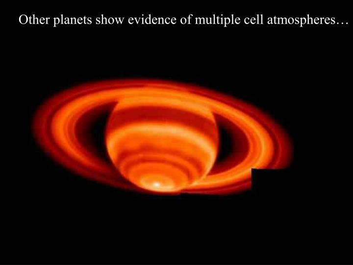 Other planets show evidence of multiple cell atmospheres…