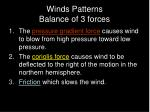 winds patterns balance of 3 forces