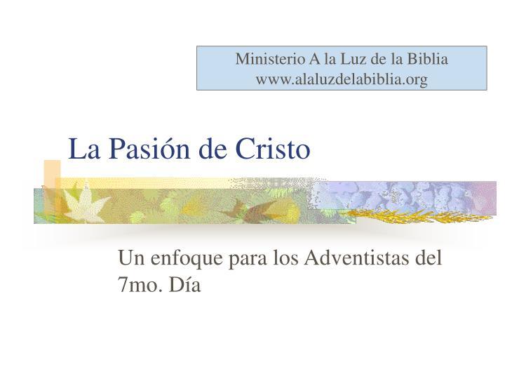 Ministerio A la Luz de la Biblia
