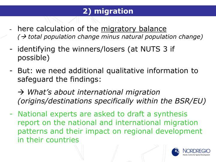 2) migration