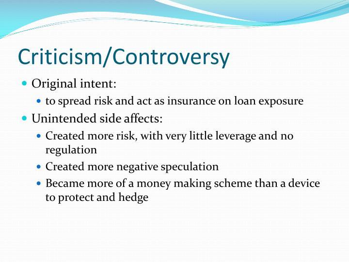 Criticism/Controversy