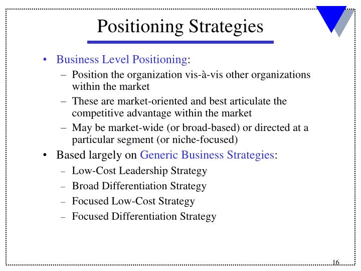 Business Level Positioning