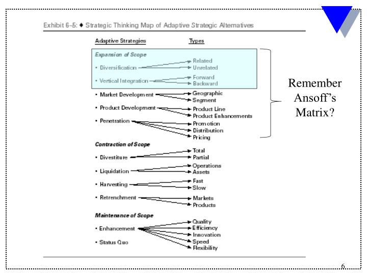 Remember Ansoff's Matrix?