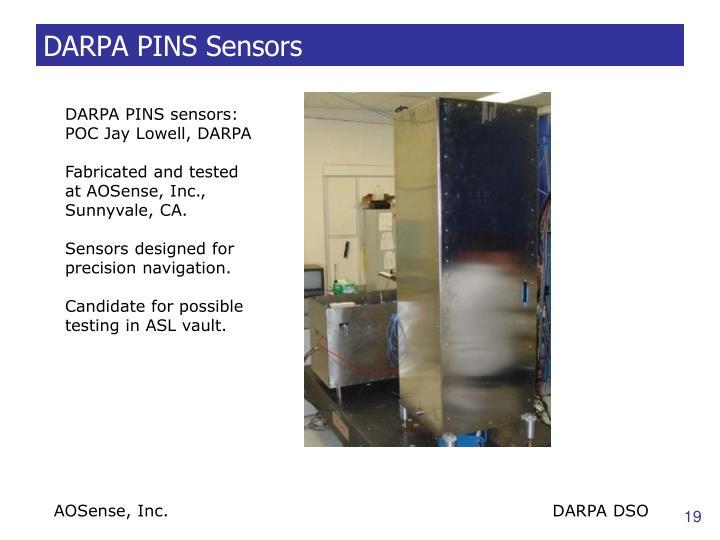 DARPA PINS Sensors