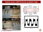 hybrid sensor 2007 gravity gradient mode