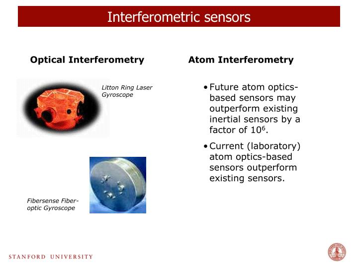 Interferometric sensors