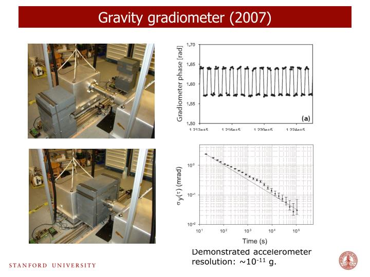 Gravity gradiometer (2007)