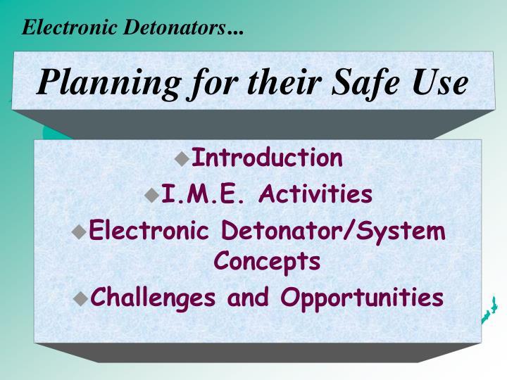 Electronic Detonators