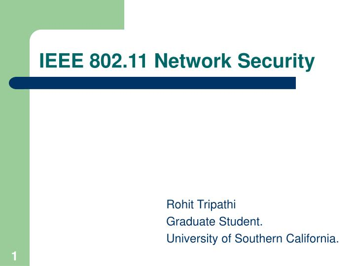 Ieee 802 11 network security