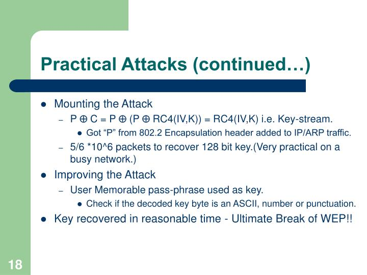 Practical Attacks (continued…)