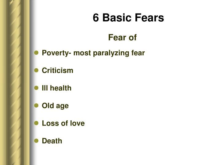 6 Basic Fears