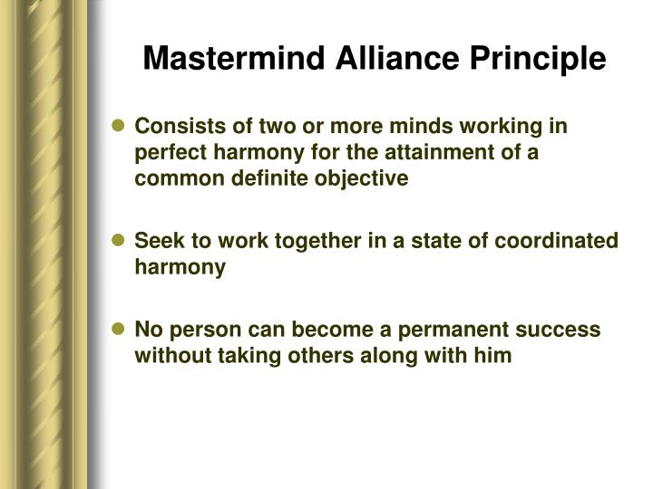 Mastermind Alliance Principle