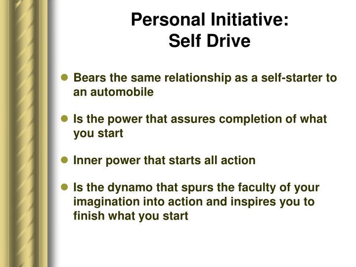 Personal Initiative: