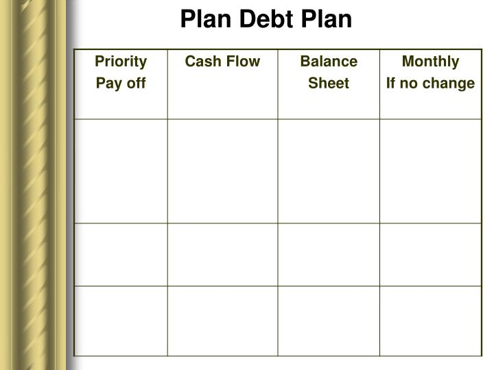 Plan Debt Plan