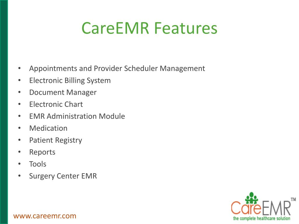 CareEMR Features