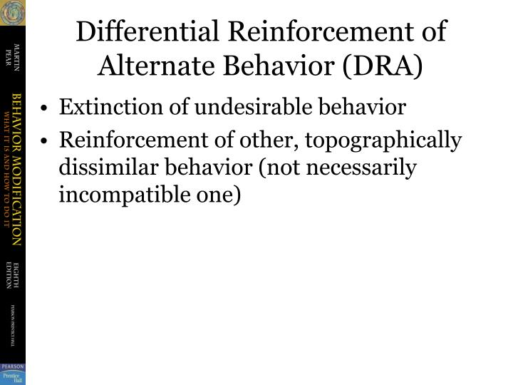 Differential Reinforcement of Alternate Behavior (DRA)