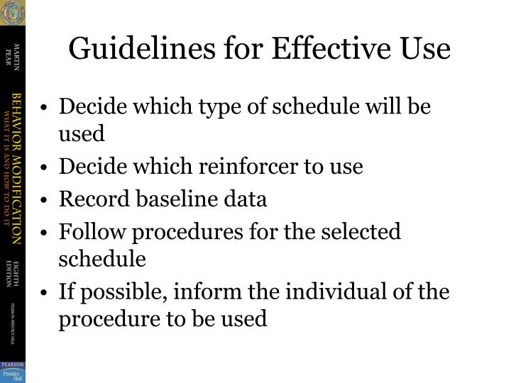 Guidelines for Effective Use
