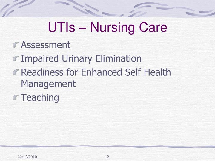 UTIs – Nursing Care