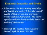 economic inequality and health