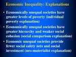 economic inequality explanations