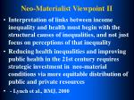 neo materialist viewpoint ii