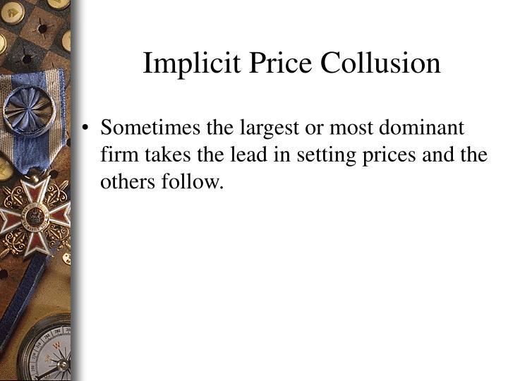 Implicit Price Collusion