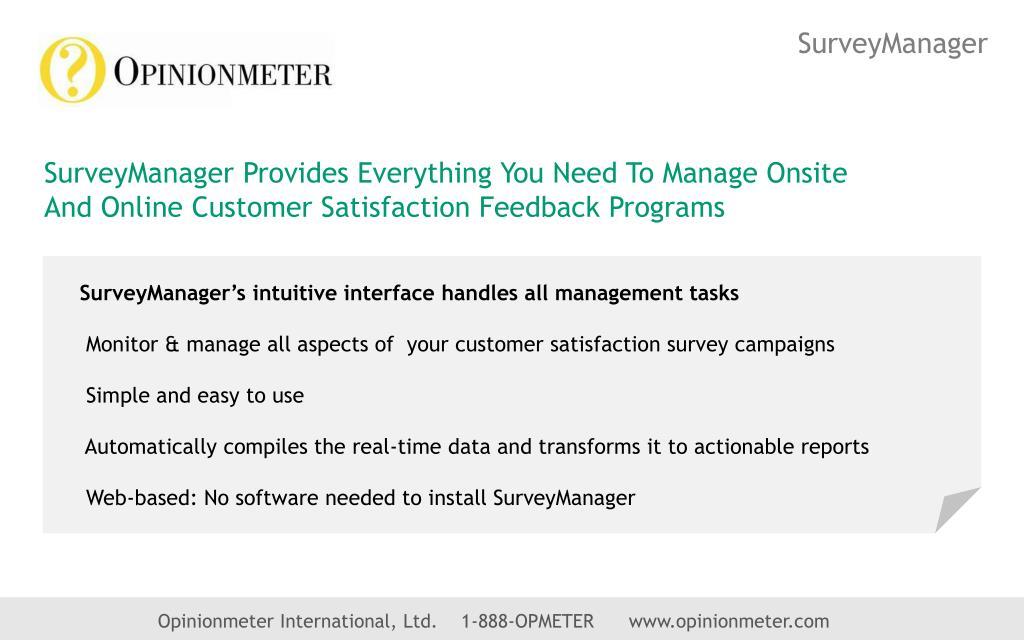 SurveyManager